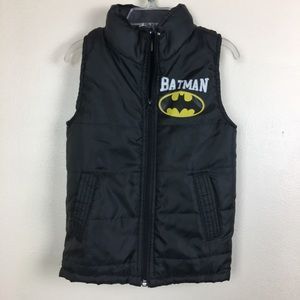 Batman Kids Puffy Vest Like New